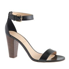This picture does NOT do these beauties justice...Lanie stacked-heel sandals
