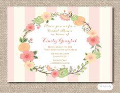 Bridal Shower Invitation Floral Bridal Shower by Oohlalovely