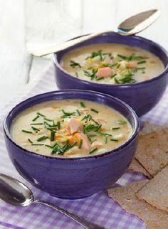 Norwegian fish soup (fiskesuppe)