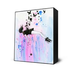 Out of Gravity Mini Art Block By: Lora Zombie - The Incredible Art Gallery Art Block, Lora Zombie, Gravity Art, Mini Art, Illustration Art, Poster Art, Art, Fine Art Prints, Original Art