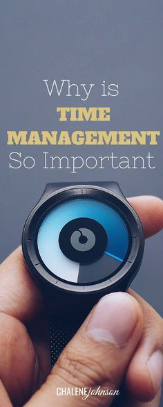 Why is time management so important? Let's talk about it. http://www.chalenejohnson.com/uncategorized/why-is-time-management-so-important/#_l_3v