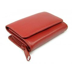 Kožená dámská červená peněženka - peněženky AHAL