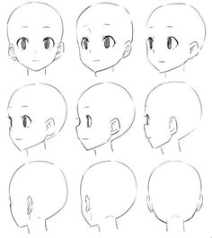 Pin de haille gentry en anime en 2019 art sketches, drawings y manga drawin Drawing Heads, Drawing Base, Anime Drawings Sketches, Anime Sketch, Pencil Drawings, Manga Drawing Tutorials, Art Tutorials, Drawing Reference Poses, Drawing Tips