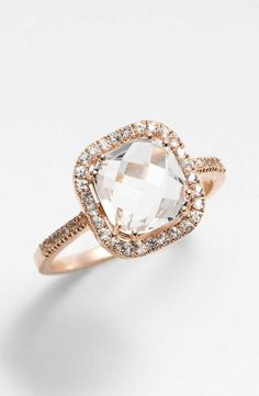 wow.... I don't really like to pin rings very much at all because I don't believe it will really matter what it looks like, I will just be so thrilled to be marrying my man. But this is really stunning...so I'm pinning haha