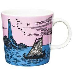 Moomin Mugs from Arabia – A Complete Overview Tove Jansson, Branded Mugs, Moomin Mugs, Kitchenware, Tableware, Marimekko, Finland, Coffee Cups, Sailing
