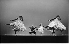 merce cunningham dance company performing antic meet, 1958 (costumes and décor by robert rauschenberg)