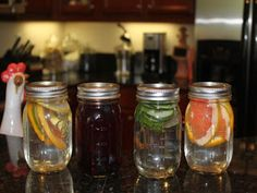 HOW TO: Make Fruit and Vegetable Infused Water in Mason Jars ~ To Insanity & Back