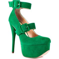 Luichiny Once Bitten - Green ($95) ❤ liked on Polyvore