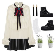 """""""Untitled #11"""" by tidaporn-michiels on Polyvore featuring Hanes, WithChic, Puma, Yves Saint Laurent and Potting Shed Creations"""
