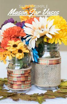 Simple Mason Jar Vas