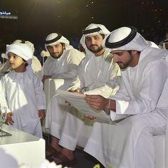 Los jeques: Ahmed MRM, Maktoum MRM y Hamdan MRM, 17/12/2014. Vía: dubaimediaoffice