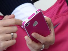 iPhone 4/4S fucsia resin skin guard.    Shop at www.uguard.me