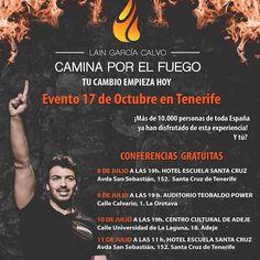 Mañana arrancan nuestras conferencias en Tenerife ... ¿Ya tienes tu plaza? Consiguela en caminaporelfuego@gmail.com  #caminaporelfuego #laingarciacalvo #tucambioempiezahoy #haciendohistoria