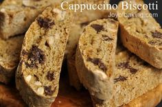 Cappuccino Biscotti Recipe - uses actual coffee or espresso, not extracts. Cloves and cinnamon, hazelnuts & chocolate chips. Wow. ~cww