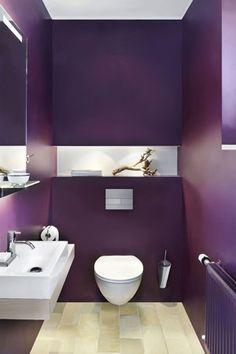 Nice Color Purple Bathrooms Apartment Interior Design Laundry In Bathroom Lounge