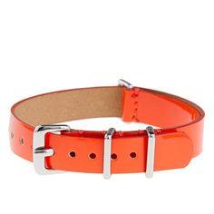 J. Crew patent leather watch strap in retro orange $16