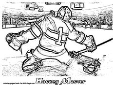 NHL Goalie Coloring Pages  Hockey Goalie Coloring Pages Book For