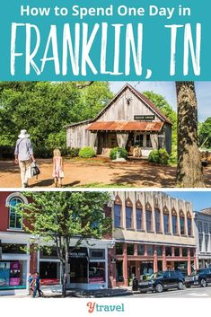 How to spend one day in Franklin tn. Franklin is a cute southern charm with boutique shopping - including a store for girls - good coffee, live music and fascinating Civil War History. Check out these top things to do in Franklin, Tennessee Nashville Vacation, Tennessee Vacation, Nashville Music, Nashville Shopping, Alabama Vacation, Visit Nashville, Cool Places To Visit, Places To Go, Franklin Tennessee