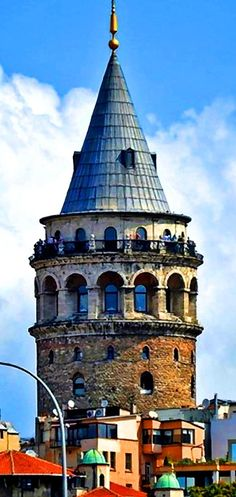 Galata Tower Top, Istanbul, Turkey - The tower offers some of the most striking views of all of Istanbul for photos. After reaching the top you can walk around the entire 360 degrees snapping photos. The best of course are of the Bosphorous, Old City, Aya Sofia and Blue Mosque.The Galata Tower — called Christea Turris is a medieval stone tower in the Galata/Karakoy quarter of Istanbul. - #photo #camera #travel photography #travel #photographer