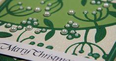 Mistletoe Card by Yvonne Van de Grip | Spellbinders