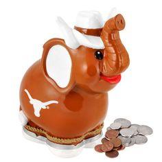 Texas Longhorns NCAA Thematic Elephant Coin Bank