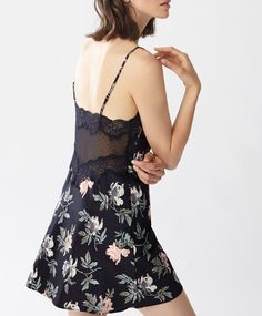 Large flower strappy nightdress - New This Week - Autumn Winter 2016 trends  in women fashion at Oysho online. 21004f03375