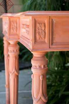 Why you just have to accent details with White Wax on carved furniture because it ends up looking THIS beautiful!