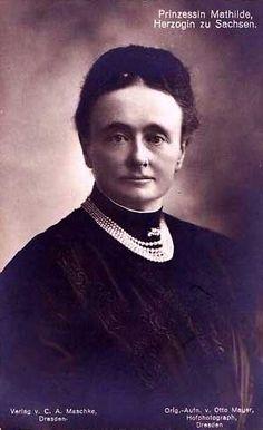 Princesse Mathilde de Saxe (1863-1933), fille du roi Georg et de l'infante Maria Anna de Portugal