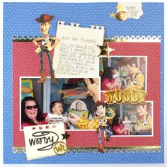 Disney Vacation Layout - Meeting Woody from Toy Story