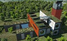 alem do telhado verde este projeto de casa container capta e reutiliza a água de chuva http://oazulejista.blogspot.com.br/2014/09/casa-container-conteiner-quais-as.html#axzz3CjLlyDjn