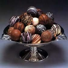 truffles--The Chocolate Garden-Coloma-hhmmmmmm-hot chocolate w/truffles-YES please