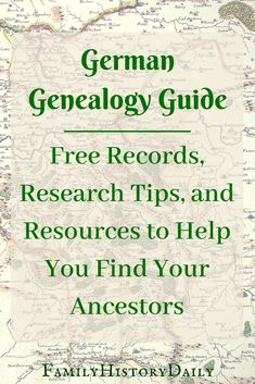 Researching your German ancestors? This German genealogy guide features free genealogy sites, tips, and resources that will help you trace your ancestors from Germany. Click to read the guide - or Pin it for later!