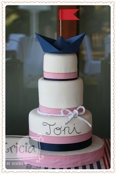 cake, sailor themed Candy bar