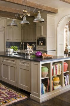 Unique Clever Kitchen Storage Ideas For Small Spaces (Selves Cabinets Organizing. - Unique Clever Kitchen Storage Ideas For Small Spaces (Selves Cabinets Organizing) - Kitchen Island Storage, Clever Kitchen Storage, Farmhouse Kitchen Island, Kitchen Redo, Rustic Kitchen, New Kitchen, Kitchen Remodel, Kitchen Islands, Creative Storage