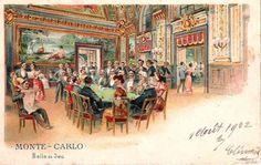 Старинные открытки и ночная жизнь Монте-Карло на них