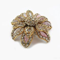 Pate-de-Verre (Hand-poured-glass) Crystal Flower Brooch (Made for Chanel)