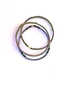 Vanessa Mooney Allie Bangle Set in Black Multi  http://www.hintboutique.com/servlet/-strse-683/Vanessa-Mooney-Allie-Bangle/Detail