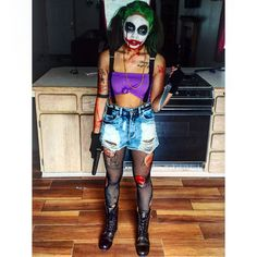 Halloween makeup female joker