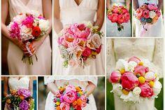 Ramos de novia con peonias,  ramo de novia