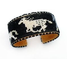 Horse Beaded Bracelet - Teri Greeves - Museum of Indian Arts and Culture - Stunning Art Work by New Mexico Artists