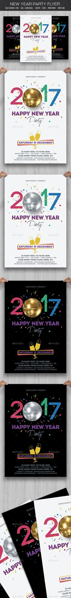 New Year Party Flyer Party flyer, Flyer template and Template - new year poster template