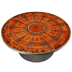 Poul Cadovius Enamel Coffee Table Hand-Painted by Mygge for France & Søn