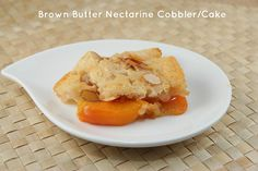 The Food Librarian: Brown Butter Nectarine Cobbler Cake - NY Times Rec...