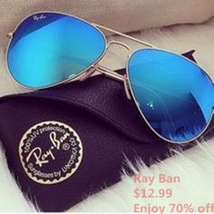 #RayBanSunglasses #RayBan high quality with low price and now $12.99. Are you interesting that. If you are, please join us, and enjoy happy life.