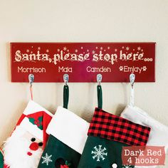 Christmas Stocking Holder Personalized Christmas by GiftedOak
