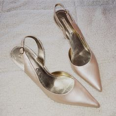 Nine West Leather Jessa Pink Pearl Slingback Heels Size 10. Genuine leather. Inside cutout, sling back. Pointed front. Blush pink/shimmer. Nwjessa style. Heel height- 4. Like new Nine West Shoes Heels