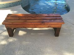 Front view of DIY BENCH