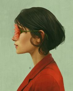 Illustration Art by Aykut Aydoğdu. Aykut Aydoğdu, Turkey is an artist born in 1986 in Ankara. Aydoğdu, who has worked on artContinue Reading → View Website Illustration Arte, Illustrations, Foto E Video, Photo And Video, Digital Art Girl, Art Textile, Photo Instagram, Surreal Art, Surreal Portraits