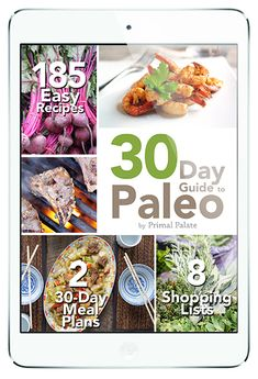 "GO PALEO … with our fool-proof step-by-step program for anyone that wishes to give the Paleo Diet an honest try for 30 days (and beyond!) When someone says ""try it for 30 days,"" we actually show you how to do it. Nice, right? Adopting a new way of eating can be challenging, but it's something we have vastly simplified in our 30 Day Guide to Paleo program. #paleo"