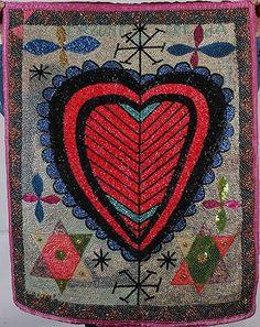 Haitian Voodoo Flag. Erzulie Freda Red Heart. : Lot 808